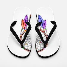 Dreamcatcher Rainbow Feathers Flip Flops