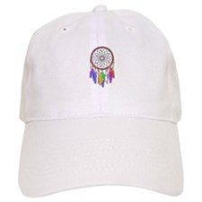 Dreamcatcher Rainbow Feathers Baseball Cap