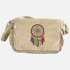 Dreamcatcher Rainbow Feathers Messenger Bag