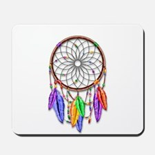 Dreamcatcher Rainbow Feathers Mousepad