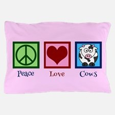Pink Cow Pillow Case