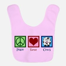Pink Cow Bib