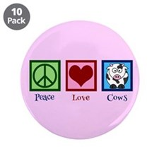"""Pink Cow 3.5"""" Button (10 pack)"""