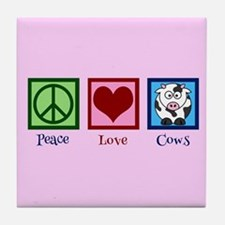 Pink Cow Tile Coaster
