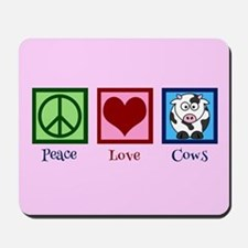 Pink Cow Mousepad