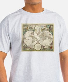 Vintage Map of The World (1680) T-Shirt