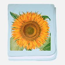 Vintage Sunflower Basilius Besler baby blanket