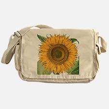 Vintage Sunflower Basilius Besler Messenger Bag