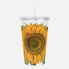 Vintage Sunflower Basi Acrylic Double-wall Tumbler