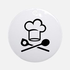 Chef spoons Ornament (Round)