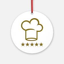 Chef golden stars Ornament (Round)