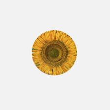 Vintage Sunflower Basilius Mini Button (100 pack)