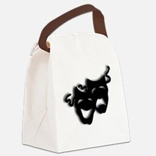 Comedy and Tragedy Theater Masks Canvas Lunch Bag
