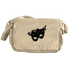 Comedy and Tragedy Theater Masks Messenger Bag