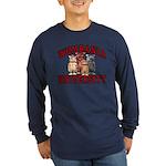 Wombania University Long Sleeve Dark T-Shirt