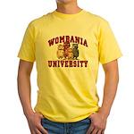 Wombania University Yellow T-Shirt