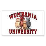 Wombania University Rectangle Sticker
