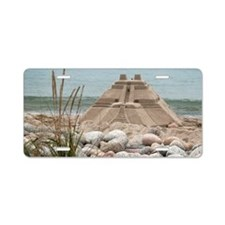 Sand Castle by the Sea Aluminum License Plate