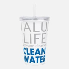 Value Life - Clean Water Acrylic Double-wall Tumbl