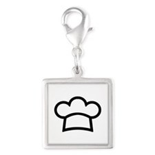 chef cook Silver Square Charm