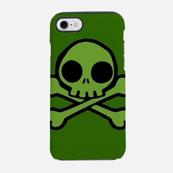 Cute Green Skull iPhone 7 Tough Case