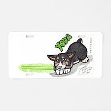 Yoda the corgi. Aluminum License Plate