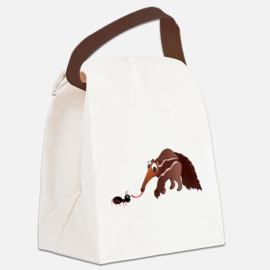 Anteater Meets His Lunch Canvas Lunch Bag