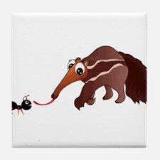 Anteater Meets His Lunch Tile Coaster