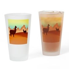 2 alpacas 2.png Drinking Glass