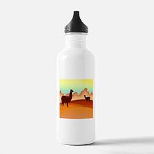 2 alpacas 2.png Water Bottle