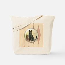 TLK003 Halloween Cat Tote Bag