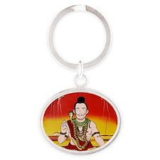 Funny Dalai lama Oval Keychain