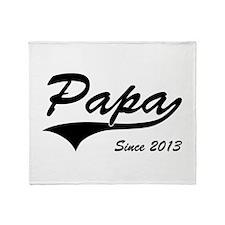 Papa Since 2013 Throw Blanket