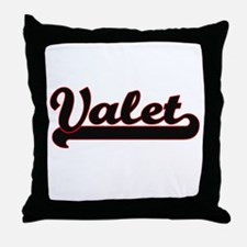 Valet Classic Job Design Throw Pillow