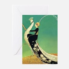 VOGUE - Riding a Peacock Greeting Cards (Pk of 10)