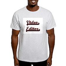 Video Editor Classic Job Design T-Shirt