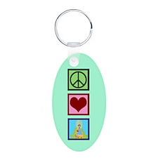 Peace Love Oz Keychains