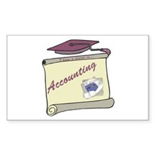 Accounting Degree Rectangle Decal