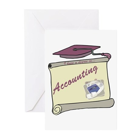Accounting Degree Greeting Cards (Pk of 10)