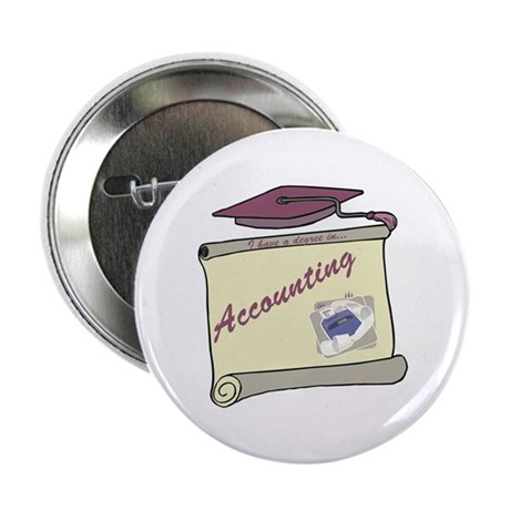 """Accounting Degree 2.25"""" Button (100 pack)"""