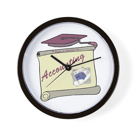 Accounting Degree Wall Clock