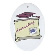 Accounting Degree Oval Ornament