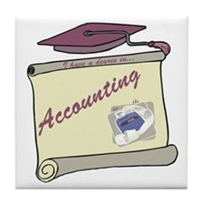 Accounting Degree Tile Coaster