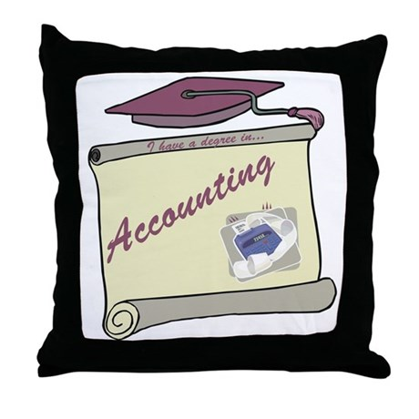 Accounting Degree Throw Pillow