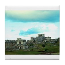Tulum Ruins Tile Coaster
