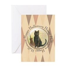TLK003 Halloween Cat Greeting Card