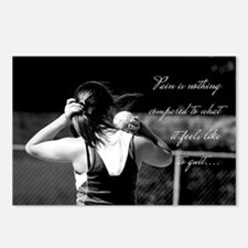 Girl Shotput thrower Postcards (Package of 8)