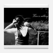 Girl Shotput thrower Tile Coaster