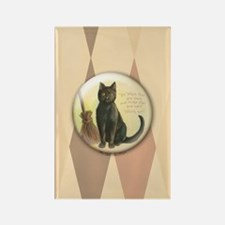 TLK003 Halloween Cat Rectangle Magnet