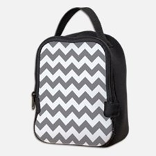 Chevron in Titanium Gray Neoprene Lunch Bag